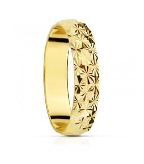 Alianza diamantada 4mm anillo de boda compromiso grabado joyeria online grosor media caña