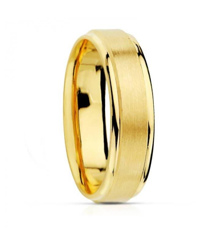 ALIANZA ORO TEXTURAS 5MM. anillo de boda compromiso grabado gratuito
