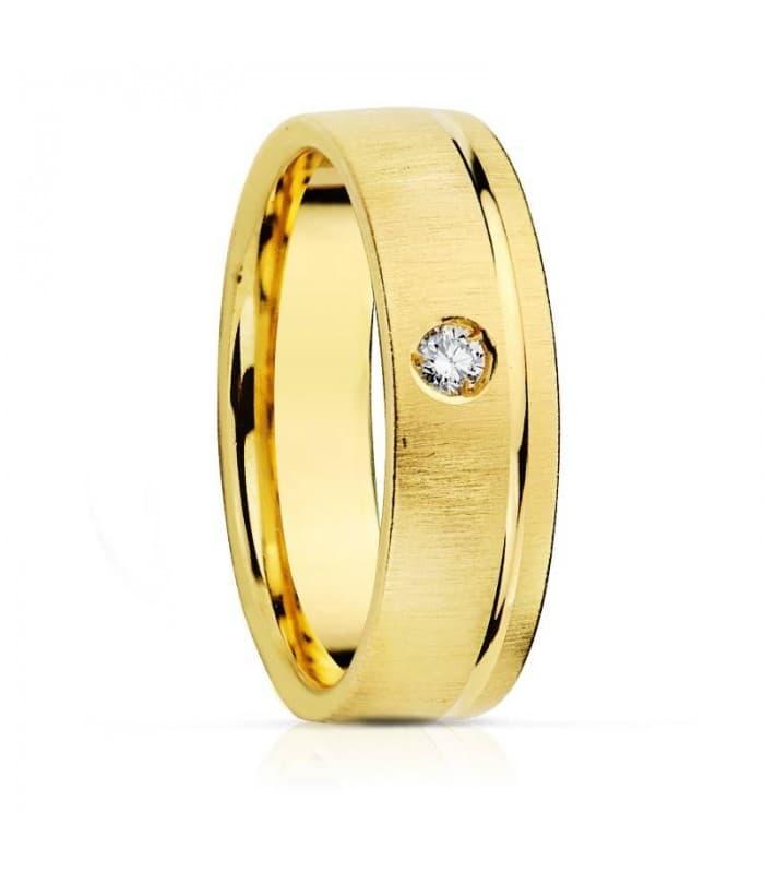 ALIANZA DIAMANTE confort anillo de boda joyeria online grabado gratuito