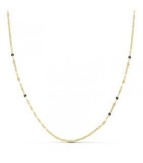 Cadena Diamantada 1 mm 18 Ktes 50 cm