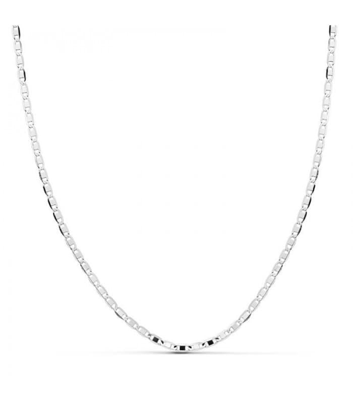 Cadena oro blanco cuadrada 1.8 mm 18 Ktes 45 cm