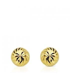 Pendientes oro amarillo Annunziata 6 mm 18 Ktes