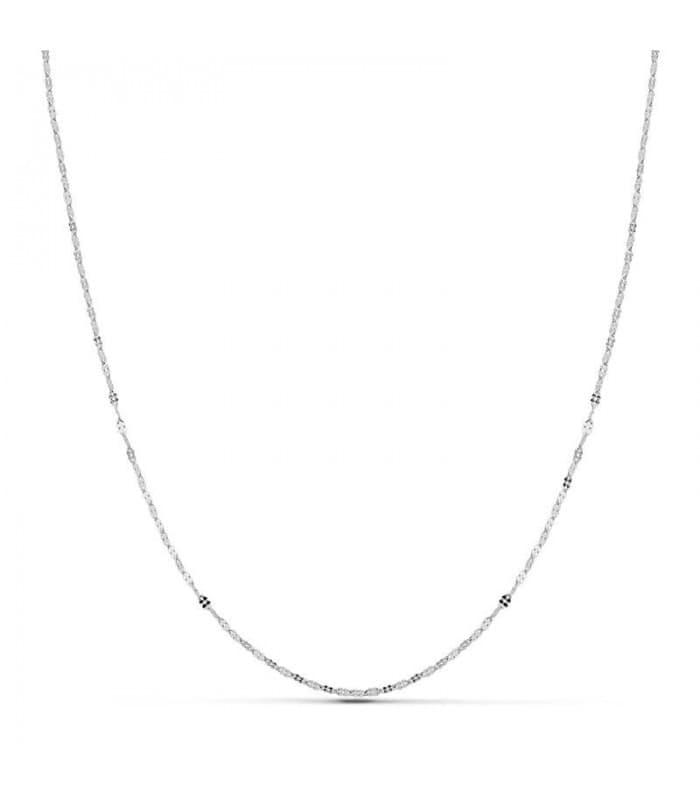 Cadena OB Flor Martillada 1.1mm 18 Ktes 45 cm