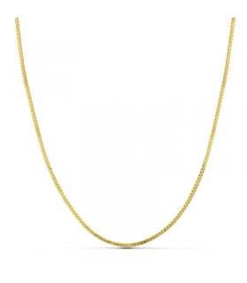 Cadena de mujer plana 1 mm oro 18 Ktes 40 cm