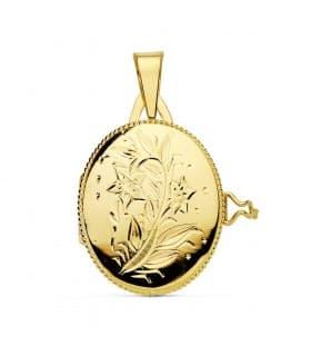 Guardapelo oro amarillo Isadora 18 Ktes