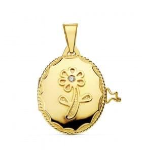 Guardapelo oro amarillo Florencia 18 Ktes