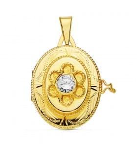 Guardapelo oro amarillo Thalia 18 Ktes