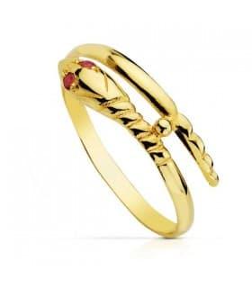 Sortija oro amarillo Rihana 18 Ktes