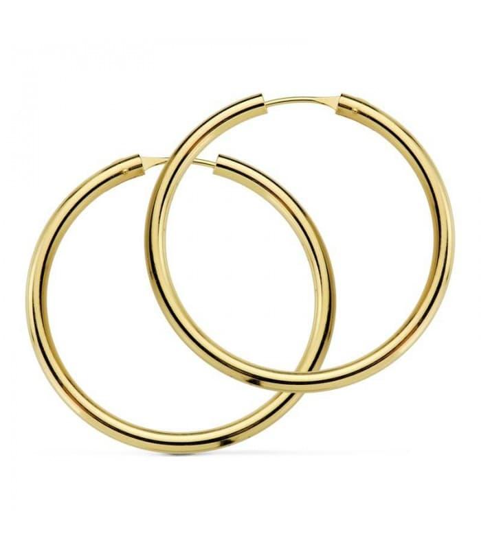 Pendientes aro de oro amarillo Melisa 20mm 18 Ktes