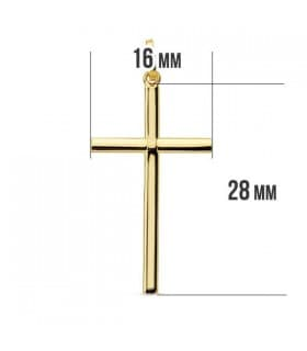 Cruz redonda 18 Ktes 28mm