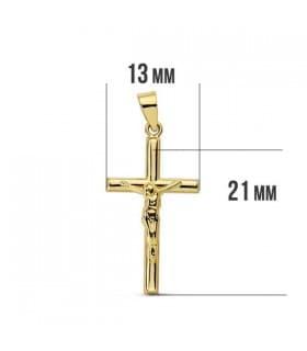 Cruz Cristo lisa 18 Ktes 21mm