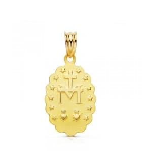 Medalla Virgen Milagrosa 9 Ktes 21mm