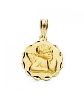 Medalla Ángel burlón galleta 9 Ktes