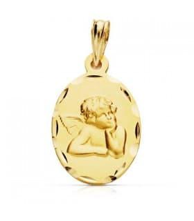 Medalla Ángel burlón oval 9 Ktes