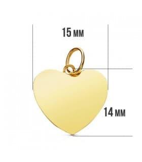 Medalla corazón liso 9 Ktes