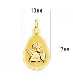 Medalla Ángel burlón gota 9 Ktes