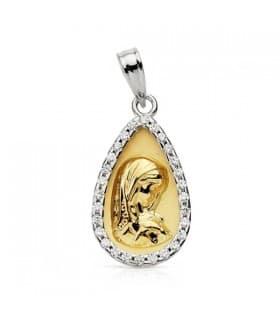 Medalla Virgen niña bicolor 9 Ktes