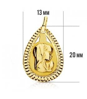 Medalla Virgen niña gota 9 Ktes