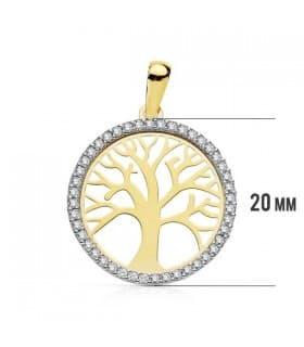 Colgante árbol de la vida 18 Ktes 20 mm