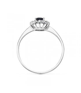 Anillo compromiso zafiro con diamantes princesa kate middleton