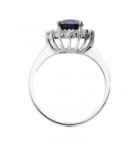 Anillo de compromiso diamantes zafiro gran calidad novia para boda solitario estilo princesa Kate Middleton