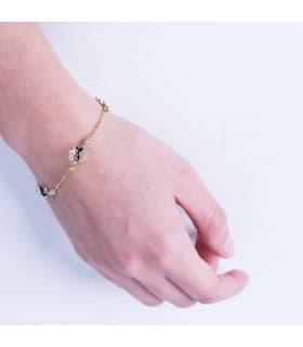 Pulsera oro bicolor Ying 18 Ktes