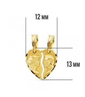 Colgante Corazón 18 Ktes