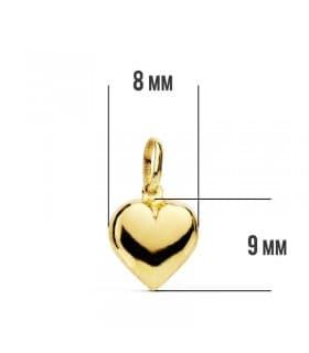 Colgante Corazón mini 18 Ktes