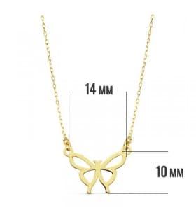 Gargantilla Butterfly 18 Ktes