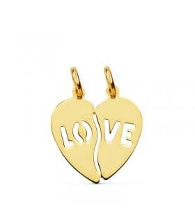 Colgante Corazón LOVE 18 Ktes