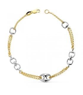 9d4d9ad6eb15 Pulseras de oro 18k para mujer y Pulseras de oro para mujer