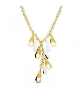 Collar oro bicolor 18k Abalorios piedra