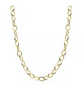 Cadena oro 18k Eslabón oval 45cm Gargantilla collar mujer