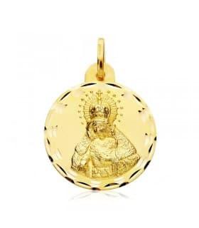 Escapulario Virgen Macarena/Cristo del Gran Poder Oro 18 kilates 23mm