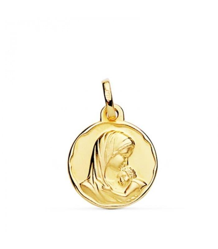 Medalla Oro Virgen Madre Joya Nacimiento Bebé Bautizo Regalo Mamá