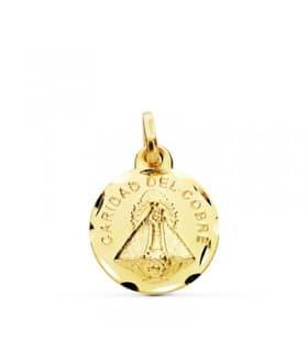 Medalla Ntra. Señora Caridad del Cobre Oro 18 kilates 14mm