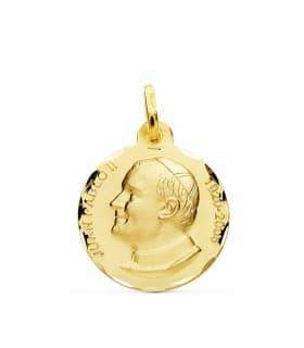 Medalla Juan Pablo II Oro 18k 18mm