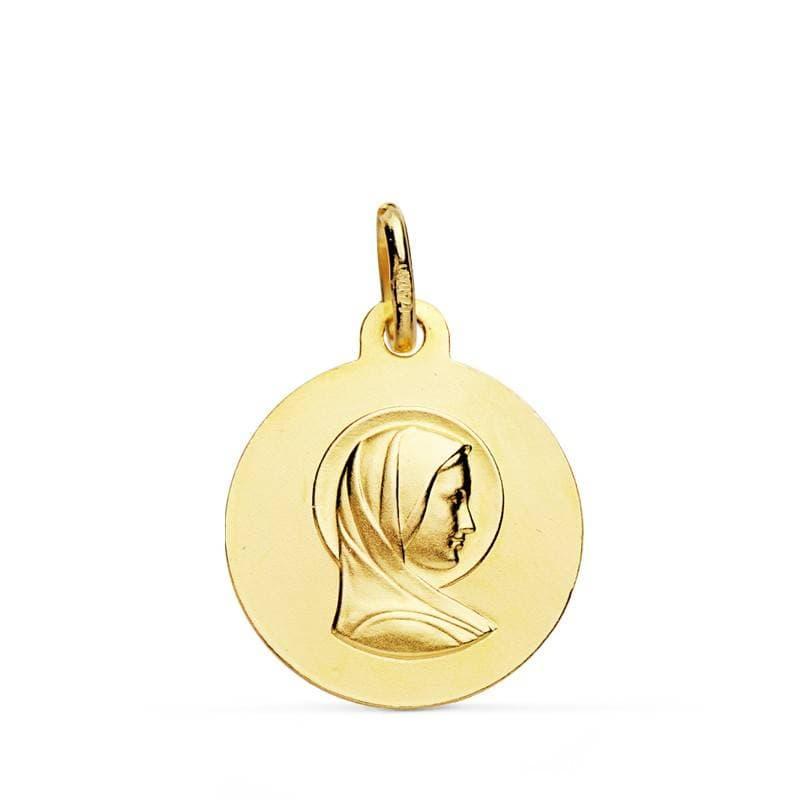 83115c68cf1e Medalla Virgen María Francesa Oro 18 kilates. Compra online medalla Comunión