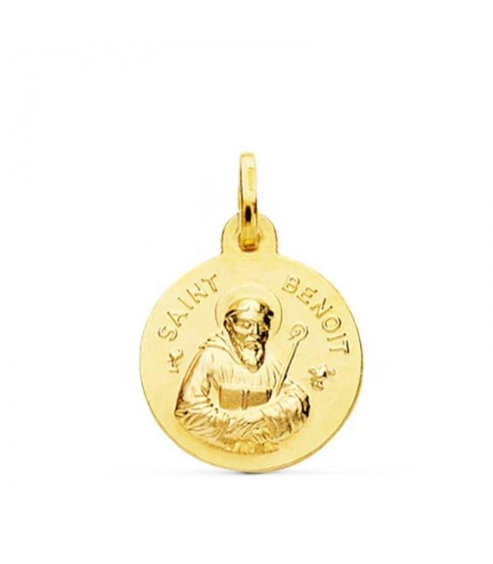 Medalla Saint Benoit Oro 18k 16mm