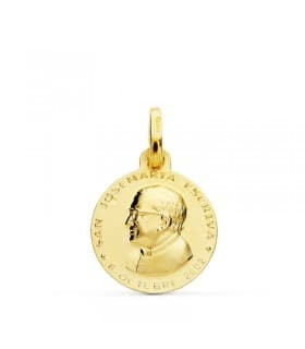 Medalla San José Mª Escrivá Oro 18k 18mm