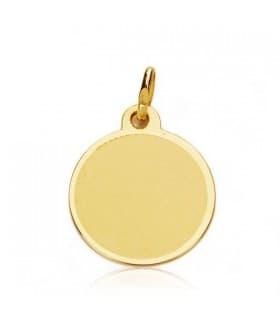Medalla niño y reloj redonda oro 18ktes
