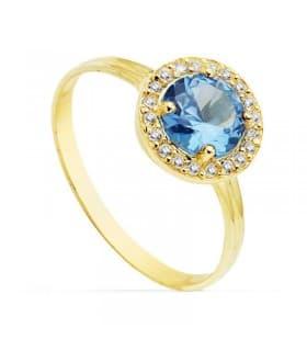 Sortija oro amarillo Candida Rosa 18 Ktes Anillo ideal para invitadas de boda dama de honor