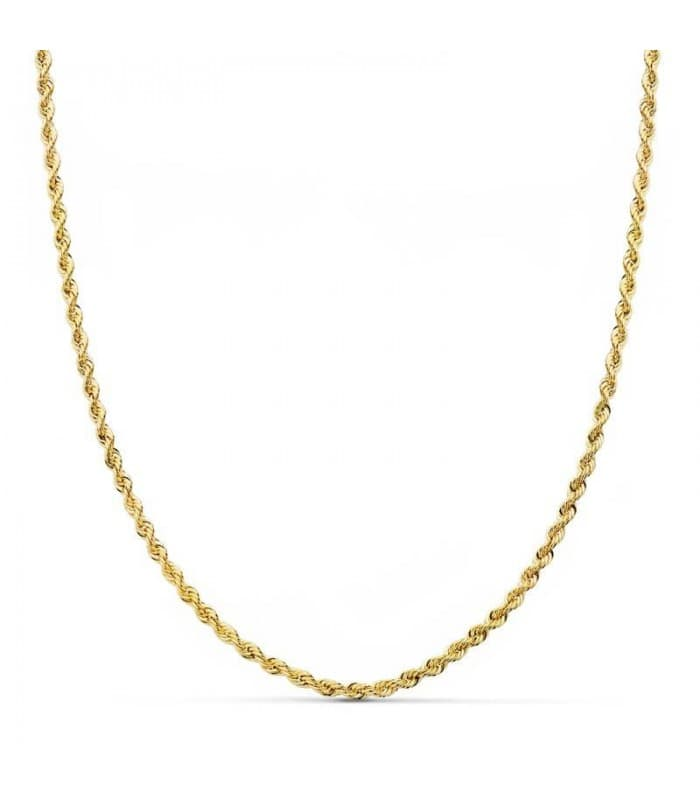 Cordón Salomónico Oro amarillo 18k 45cm 2mm