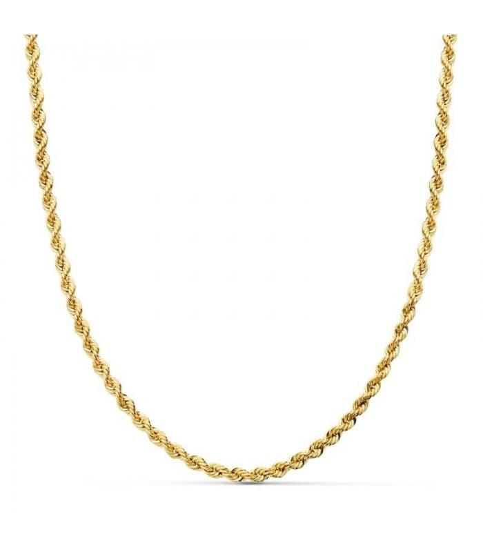 Cordón Salomónico Ligero Oro amarillo 18k 45cm 3mm