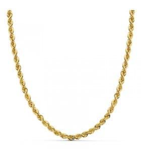 Cordón Salomónico Oro amarillo 18k 50cm 4mm