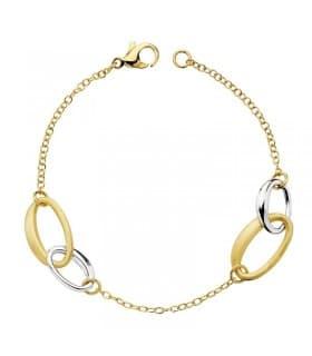 66a98f41ef9a Pulsera de mujer oro bicolor 18 kts Alianzas Ovaladas - Joyería Online