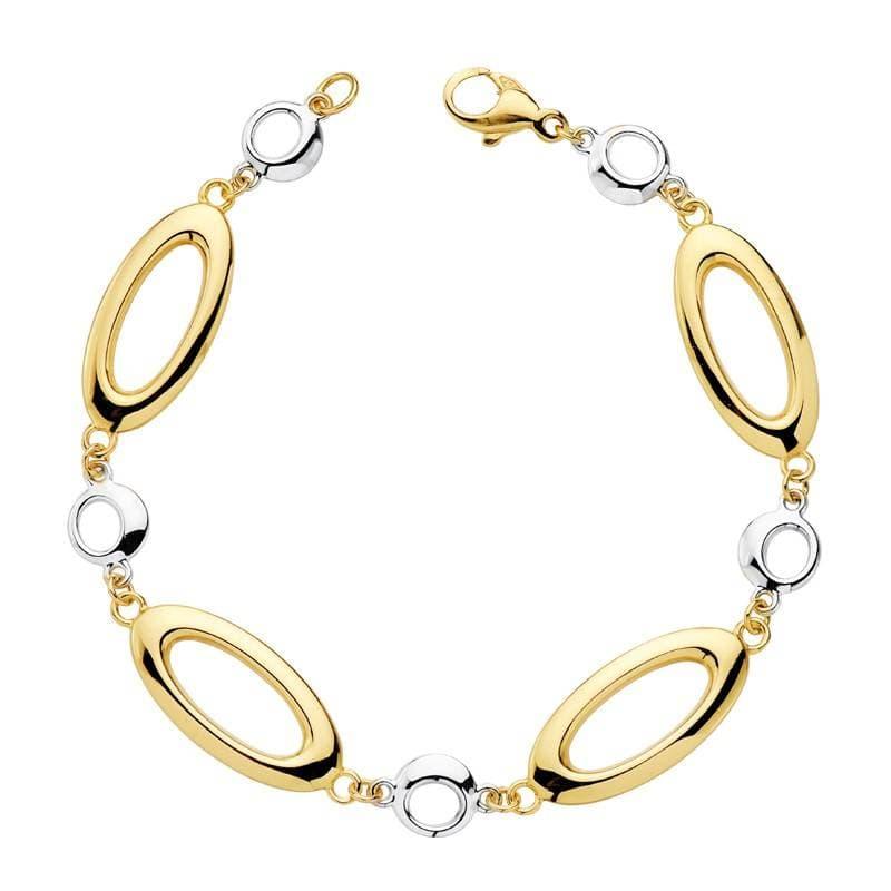 d78ca1e079c2 Pulsera de mujer oro bicolor 18k Eslabones   Bubbles - Joyería Online