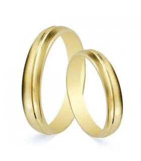 Alianzas de boda mate Salzano 3mm Oro amarillo 9 Kilates. Alianzas económicas