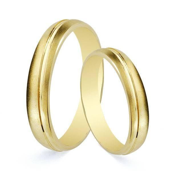 3422d5ac7feb Alianzas de boda mate Salzano 3mm Oro amarillo 9 Kilates. Alianzas  económicas