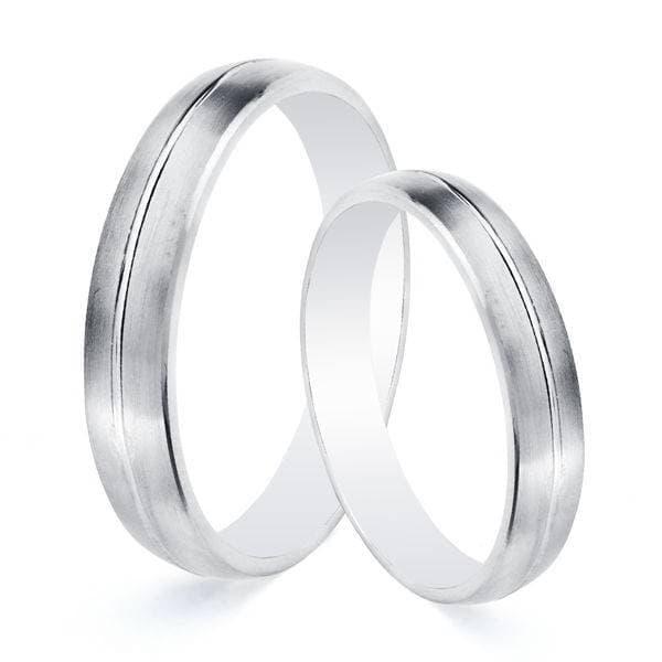 0c7aac07c6cb Alianzas de boda Salzano 4mm Oro blanco 9 Kilates Mate. Grabado incluido.